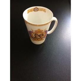 vintage collectible Shelley 1937 Coronation mug
