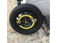 Skoda/vw space saver wheel