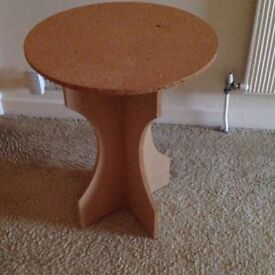 MDF table with plate glass top especially cut to fit