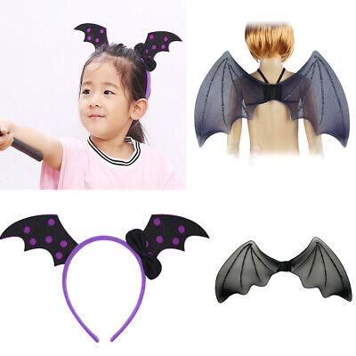 MagiDeal Horror Evil Bat Hairband Wing Costume Set Kid Halloween Fancy Dress