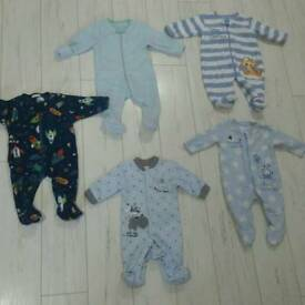 Baby fleece sleepsuits