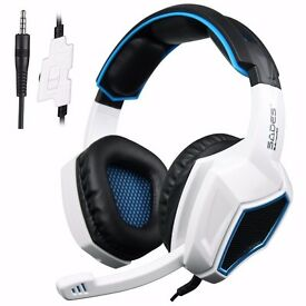 Xbox One PS4 Gaming Headset Over Ear Stereo Gaming Headphones with mic