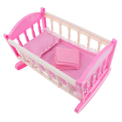 """Lovely 29*20cm Cradle Baby Doll Bed for 9-11"""" Reborn Furniture Accessories"""