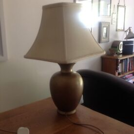 Antique gold large table lamp