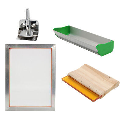 Silk Screen Printing Machine Press Kit Scoop Coater For T-shirt Diy Printer