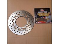 HONDA FES125 FES150 Pantheon S-Wing Front Brake Disc & Pad Kit 2007 - 2012