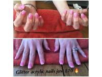 Acrylic nails start from just £10 ! 💞