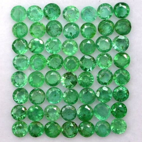 Wholesale Lot 3mm to 4mm Round Facet Zambian Emerald Loose Calibrated Gemstone