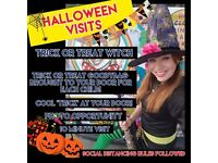 Children's Entertainers! Halloween Trick or Treat Visits with Magic and Balloon Modelling- Magician