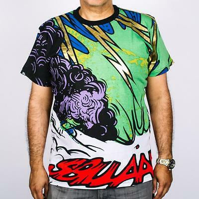 T/s Pakistan Green (New Men's Imperious Cotton Comic Graphic Print Green T Shirt Size M - 2XL)