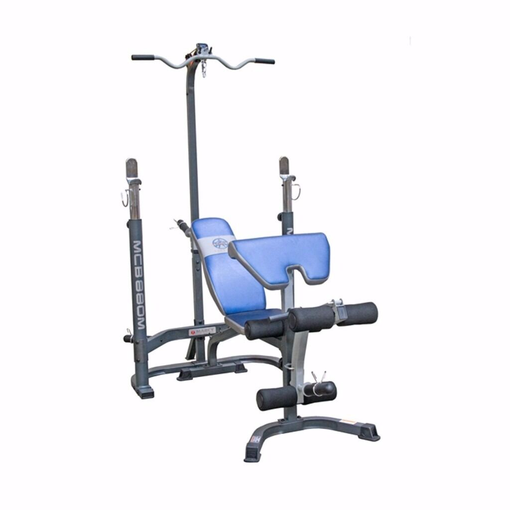Marcy Olympic Weight Bench With Squat Rack Lat Pull
