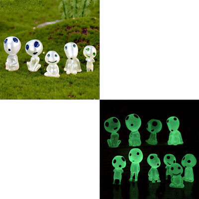 10x Luminous Tree Elves Doll for House Gardening Potted DIY Decoration Ornament