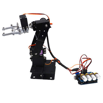 Black Stainless Steel 4dof Desktop Robot Arm Kit With 4 Servos For