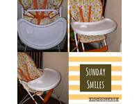 Brigth and beautiful Baby high chair unisex