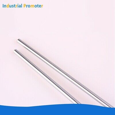 2pcs Od 10mm X 500mm Cylinder Rail Linear Optical Axis Shaft Rod Bearing Steel