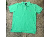 Ralph Lauren green polo shirt 14-16