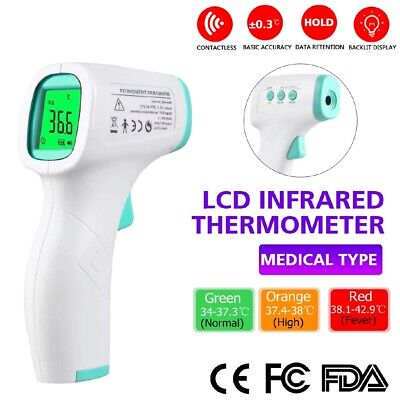 New Afk Non-contact Digital Ir Infrared Forehead Thermometer Gun Model Yk001