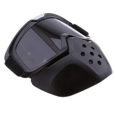 Schutzbrille Maske Motorrad Riding Protector Abnehmbare Brille Helm Rauch