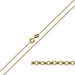 375 SOLID 9CT YELLOW / WHITE GOLD CURB BELCHER TRACE FIGARO CHAIN LINK NECKLACE