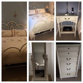 Beautiful Laura Ashley king size Bed frame & furniture