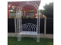 John Lewis quality metal garden patio seat arch £75 Ono tel 07966921804
