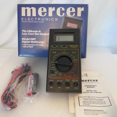 Mercer 9401 4-12 Digit Multimeter Lcd Display With Leads Manual Old Stock