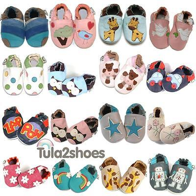 Tula2shoes NEW LUXURY SOFT LEATHER BABY GIRLS BOYS SHOES  0-6 6-12 12-18 18-24 M