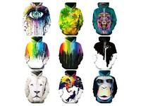Cool men's and ladies 3D abstract hoodies