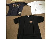3 Brand New T-Shirts (Campaign for Real Ale/Lech/Hancock's) Good quality All sized XL All Brand New