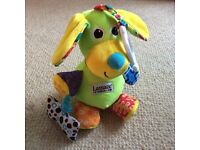 Lamaze pup squeak talking sensory baby toy
