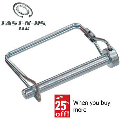 Snap Lock Pto Pin Square 2 Wire 516 X 2-14 Zinc Clear 50 Pcs Free Shipping