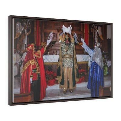 Three Wise Men Presenting Baby Jesus - 3 Reyes Magos Premium Gallery Wrap Canvas