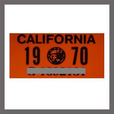 1970 California Yom Dmv Truck Commercial License Plate Sticker   Tag Ca   1963