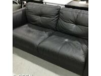 3 SEATER LEATHER SOFA IN ANTHRACITE