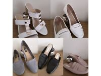 Assortment of ladies shoes