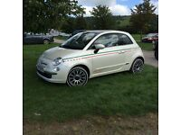 Fiat 500 Lounge in Pearl white
