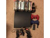 Sony Playstation 3 320GB Console 18 Games 2 Controllers Remote