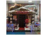 Christmas santa grotto hire with all furniture inside and outside