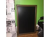 Chalkboard with wood frame 60x90