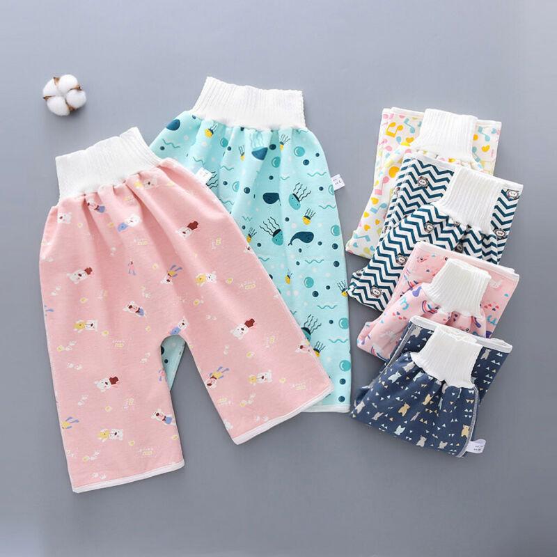 как выглядит Comfy Childrens Diaper Waterproof And Leakproof Elastic Waist Loose Shorts Pant фото