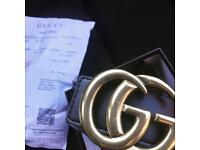 Gucci belt gold buckle in box