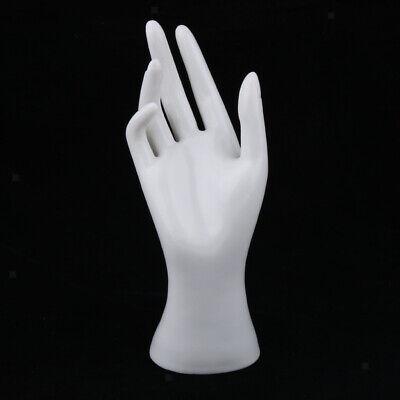 Female Mannequin Hand Jewelry Bracelet Ring Watch Display Holder Rack White