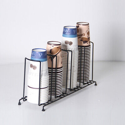 Paper Cup Dispenser 4 Stacks Holder Coffee Paper Cup Organizer 100mm Dia