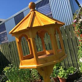 Octagonal bird table