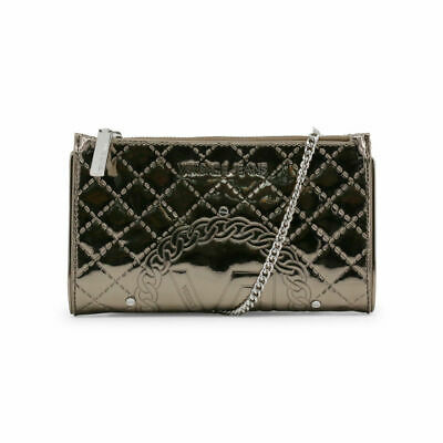 Versace Jeans Clutch Bag Logo Quilted Silver with Dust Bag RRP £180