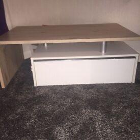 Modern coffee table & matching tv unit