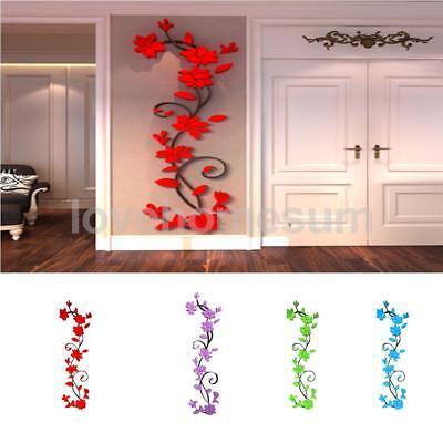 Vinyl 3d Blume Wandaufkleber Wandbild Wandtatoo Tapete Sticker Wand Deko ()