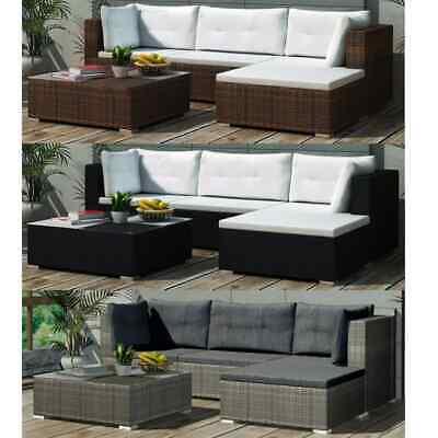 vidaXL Gartenmöbel 14-tlg. Poly Rattan Lounge Sofa Sitzgruppe mehrere Auswahl