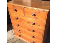 chest of drawers and Indonesian hardwood coffee table