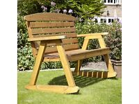 Double rocking chair bench